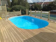 Billedresultat for wood deck round above ground pool Round Above Ground Pool, Diy Pool, Backyard, Patio, In Ground Pools, Pool Landscaping, Bellisima, Landscape, Outdoor Decor