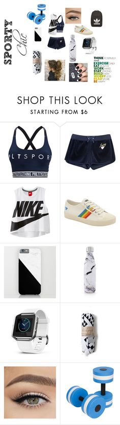 """""""Sporty Chic!"""" by lyonslove on Polyvore featuring Pretty Little Thing, Juicy Couture, NIKE, Gola, S'well, Fitbit, adidas, chic and sporty"""