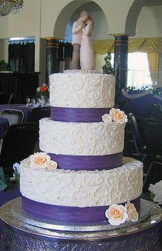 gray purple wedding cakes | photo size: medium 500