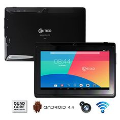 Contixo LA703 7″ Tablet PC, Quad Core CPU, Google Android 4.4 Kitkat, 1GB RAM, 8GB Nand Flash, Dual Camera, HD Multi-Touch Screen 1024×600, WiFi, Google Play Pre-installed, 3D Game Supported, 2014 Newest BLACK Model