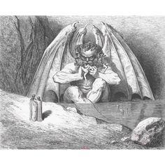 Crédit : Gustave Doré L'Enfer, [Lucifer], Tiré à part inédit], 1861 Gravure sur bois © BnF 12.