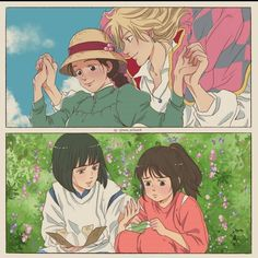 Howl's Moving Castle Movie, Sophie Howl's Moving Castle, Howls Moving Castle Wallpaper, All Studio Ghibli Movies, Studio Ghibli Art, Studio Ghibli Characters, Howl Movie, Howl And Sophie, Anime Reccomendations