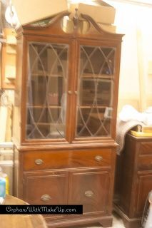 china cabinet makeover from traditional to farmhouse, kitchen cabinets, kitchen design, painted furniture, Before