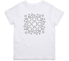 El Cheapo Bubble Square (Black) Youth White T-Shirt