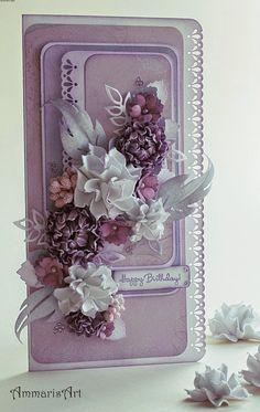 Pastel card ... handmade ... hand made ... homemade ... scrapbooking ... Shabby Chic ... flower ... birthday ... geburtstag