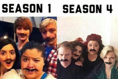 They changed so much from Season 1 to Season 4 . except for these pics. Best Tv Shows, Best Shows Ever, Favorite Tv Shows, Disney Channel Shows, Disney Shows, Cute Relationship Goals, Cute Relationships, Austin Moon, Laura Marano