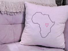 Africa Love pillow by NorthRoad on Etsy, $25.00