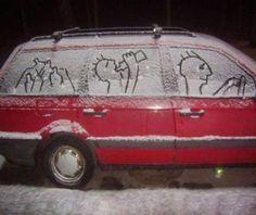 snow/car art