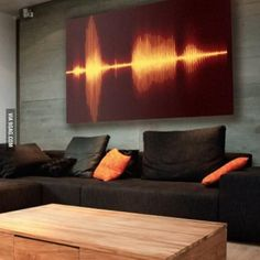 Hanging a part of your favorite track on your wall