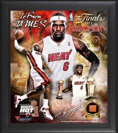 LeBron-James-Framed-15x17-Multi-Photo-Collage-Details-Miami-Heat-2013-NBA #MiamiHeat