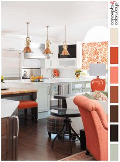 White Kitchen Accent Colors turquoise hangout | turquoise accent walls, brown interior and