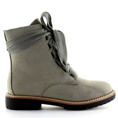 Botki sznurowane szare 8308 Grey Lace Up Heels, Suede Heels, Snow Boots Women, Sneaker Boots, Short Boots, Chunky Heels, Chelsea Boots, Combat Boots, Fashion Shoes