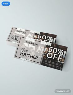 discount design A sophisticated and elegan - discount Food Vouchers, Gift Vouchers, Restaurant Vouchers, Gift Voucher Design, Free Birthday Gifts, Coffee Coupons, Ticket Design, Coupon Template, Coupon Design