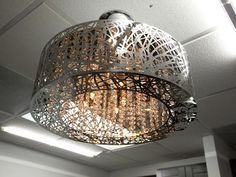 Brushed Silver Light Fixture Featured on HGTV's Design Star
