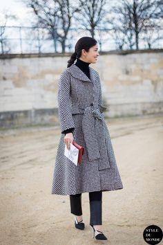 Paris Fashion Week FW 2014 Street Style: Caroline Issa