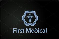 Medical Logo Design ~ Logo Templates ~ Creative Market Logo Psd, Medical Logo, Logo Templates, Adobe Illustrator, Logo Design, Technology, Creative, Illustration, Tech
