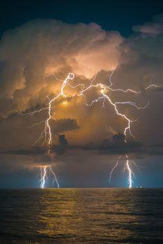 Lightning and thunder storm...