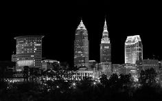 Night Time In Cleveland Ohio by Dale Kincaid