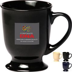 Serve your valued customers a delicious cup of Irish coffee in this 10 oz. Irish coffee mug. This colorful ceramic mug features a unique base and handle. Available in several different colors to choose from, have your company name or logo imprinted on the surface for instant brand recognition. Great for business promotions, wedding favors, special gifts and more, this mug will make a wonderful addition to any home or office setting!