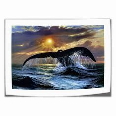 Animal Whale Posters HD Canvas Painting Home Decor room Wall art Picture Decor Room, Wall Art Pictures, Whale, Art Deco, Posters, Canvas, Painting, Animals, Outdoor