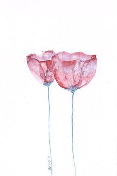 Tulips Spring Flower  Art  Watercolor  Original by mallalu on Etsy, $59.00