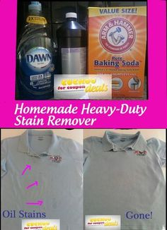 This is awesome! Homemade Heavy-Duty Stain Remover with things from around the house. I am totally going to use this!
