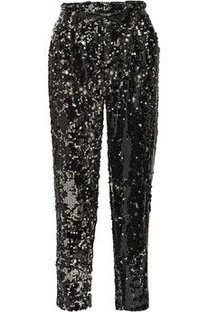 Milly Sequined tulle straight-leg pants | NET-A-PORTER