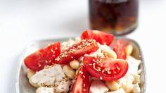 Rezept: Tofu mit Sojabohnen und Tomaten