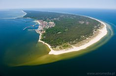 Hel Peninsula, Poland. The north-most tip of Poland, where the Baltic Sea meets the Bay.