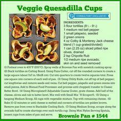 Veggie quesadilla cups