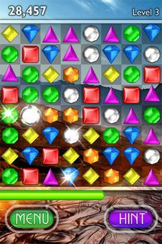 Bejeweled. Love this game. Play it on my phone and dsi all the time.
