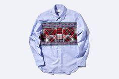 Tartan Motif Work Shirt