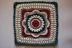 African Flower Square by Barbara Smith This block was originally made to be part of a blanket with many different blocks. It can also be used on its own, or as a cushion cover. Enjoy!