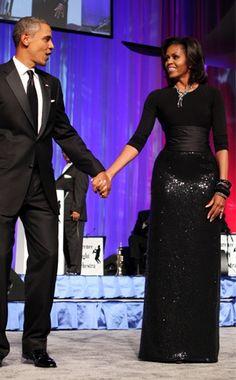 Michelle Obama.  Michael Kors skirt.