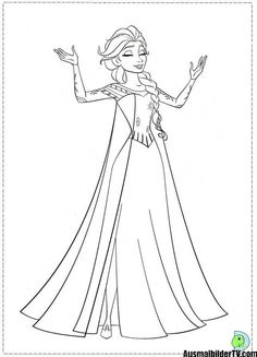 Another Beautiful Disney Frozen Movie Coloring Page Here Is Elsa The Queen Of Arendelle She Also Known As Snow
