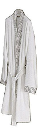 Ted, Luxury Bathrobe with jaquard, % 100 Turkish cotton, Soft, Absorbent and Durable at Amazon Women's Clothing store: