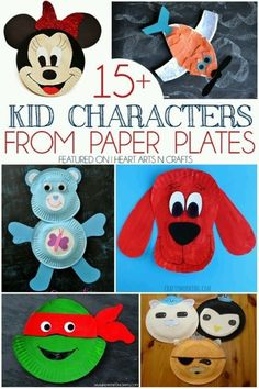 15 Kid Characters From Paper Plates Minnie Mouse Planes Inspiration Of Paper Plate Crafts – Doll. 15 Kid Characters From Paper Plates Minnie Mouse Planes Inspiration Of Paper Plate Crafts – Doll. Paper Plate Art, Paper Plate Crafts For Kids, Crafts For Kids To Make, Craft Activities For Kids, Preschool Crafts, Paper Plates, Kids Crafts, Art For Kids, Arts And Crafts