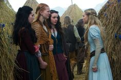 Still of Shauna Kain, Amanda Seyfried, Carmen Lavigne and Kacey Rohl in Red Riding Hood