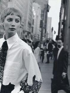 Harper's USA 08-1993  Christy wearing Karl Lagerfeld 1993