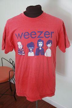 grunge rock Vintage red Weezer rock tour concert t shirt-Large Rock Shirts, Band Shirts, Tee Shirts, Simple Outfits, Cute Outfits, Punk Rock Princess, T-shirt Und Jeans, Grunge, Geile T-shirts