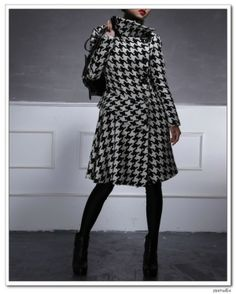 #houndstooth #wool #coat por eva.ritz
