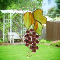 Stained Glass Wine Grapes Price: $44. Enter coupon code PIN10 at checkout from colorandlight shop to get 10% off your total purchase.
