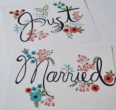 Just Married 2 Piece Set Perfect for Wedding by LOFTLIFEPRESS, $50.00