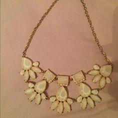 Statement jewelry White and silver statement jewelry Jewelry Necklaces