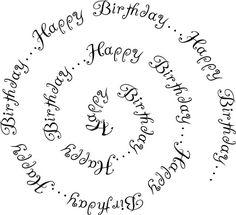 Free Printable Birthday Sentiments: Birthday Sentiment Spiral Text