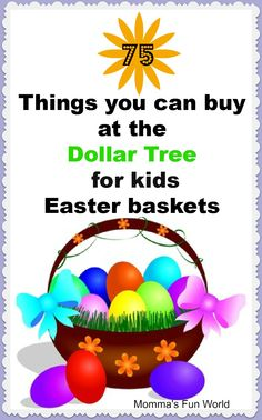 75 things you can buy for Easter baskets at Dollar Tree            #easter #easterbasket #easterbunny #easterishere #happyeaster #springhassprung #easterideas #holidayplanning www.gmichaelsalon.com