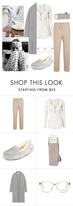 """""""Easy Like Sunday Morning"""" by petra0710 ❤ liked on Polyvore featuring The Row, Free People, UGG, Madeleine Thompson and Yves Saint Laurent"""