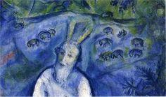 chagall moise et le buisson ardent - détail 1060-1066 Nice musée