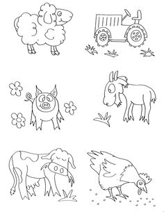 farm animals coloring pages preschool animals coloring pages here we come animals coloring pages - Free Coloring Pages For Kindergarten