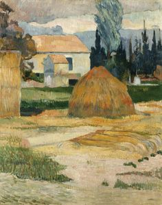 """Paul Gauguin (French, 1848-1903), """"Landscape near Arles,"""" 1888; Indianapolis Museum of Art, Gift in memory of William Ray Adams, 44.10"""